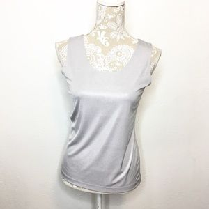 NWT Chico's Travelers SZ 0 Silver Tank Top Shell
